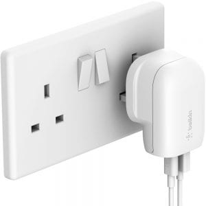 Belkin BOOST↑CHARGE 30W USB-C PD + USB-A Wall Charger