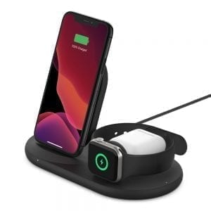 Belkin BOOST↑CHARGE™ 3-in-1 Wireless Charger for Apple Devices including Power Supply