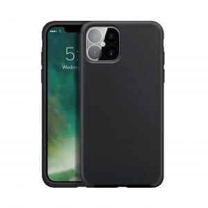 XQISIT Silicone Anti Bacterial Case for iPhone 12 Pro Max - Black