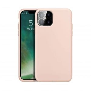 XQISIT Silicone Anti Bacterial Case for iPhone 12/12 Pro - Rose