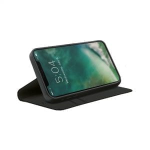 XQISIT Eco Wallet Anti Bacterial for iPhone 12 Mini - Black