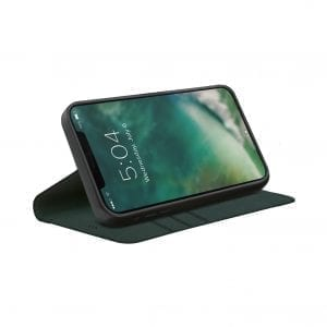 XQISIT Eco Wallet Anti Bacterial Case for iPhone 12 Pro Max - Green