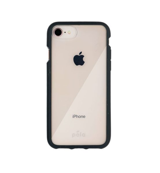 Pela Eco Friendly Clear Case for iPhone SE (2nd Generation) - Black